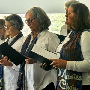 Maisie's Choirs in Jenny Johnson Scarves